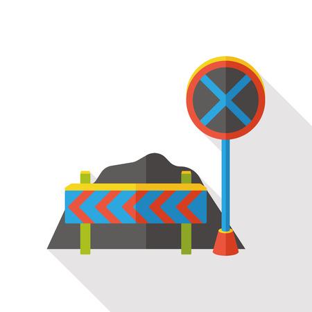 traffic roadblocks flat icon