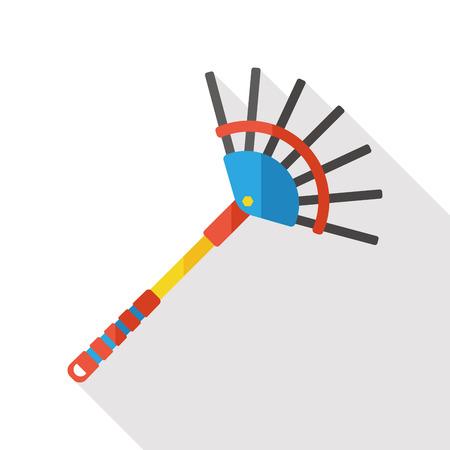 rake: gardening Rake flat icon Illustration