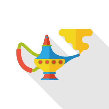 lampara magica: l�mpara m�gica icono plana