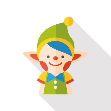 fairy: fairy tale elves flat icon Illustration