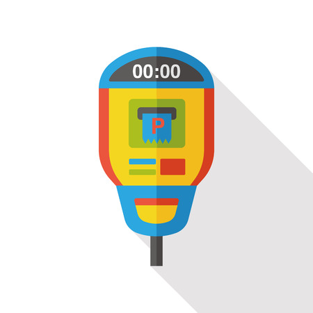 operated: Parking meters flat icon
