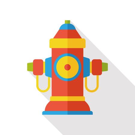 hydrant plug: fire hydrant flat icon