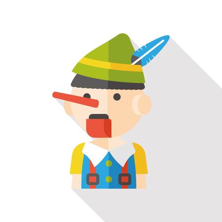 puppeteer: cartoon puppet flat icon
