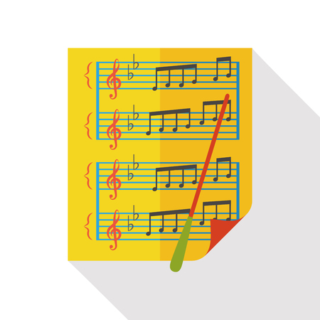 sheet music: Sheet music flat icon
