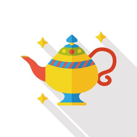 lampara magica: lámpara mágica icono plana