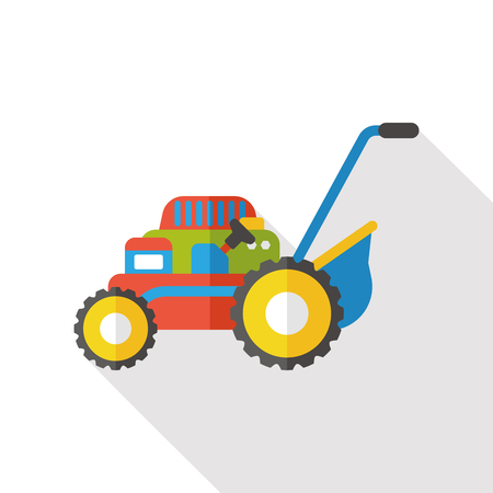 push mower: Lawn mower flat icon