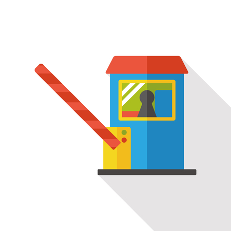 Toll booths flat icon