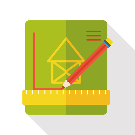 ionic: Architectural sculpture sketch flat icon