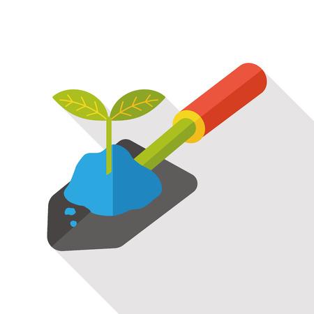 hand trowels: gardening shovel flat icon