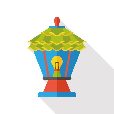 outdoor lights: gardening lamp flat icon