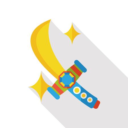dagger: sword dagger flat icon Illustration