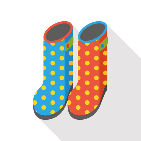 galoshes: Rain boots flat icon