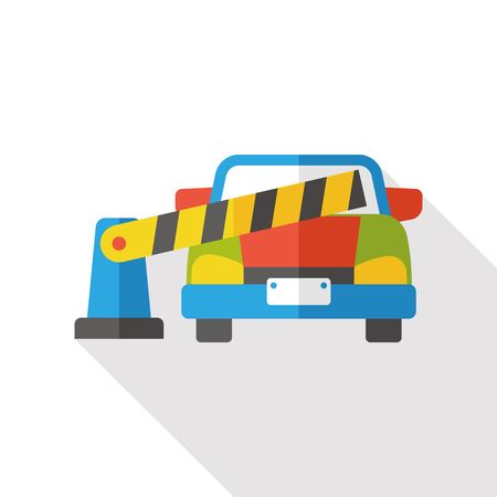 toll: Toll booths flat icon
