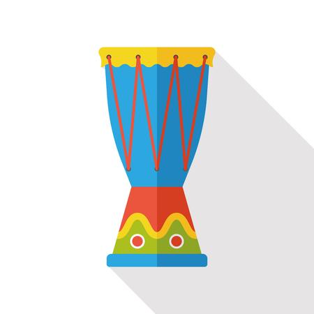 Trommel Musikinstrument flach Symbol