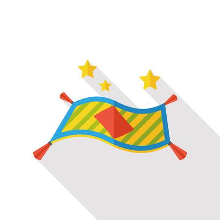 nights: Magic carpet flat icon