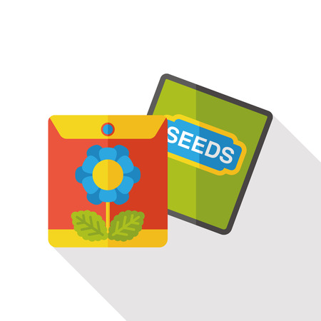 rice and beans: plant seed flat icon