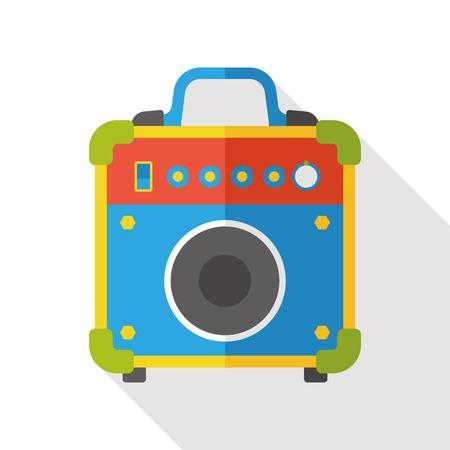 equipo de sonido: la electr�nica est�reo icono plana