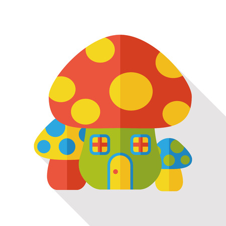 mushroom house: mushroom house flat icon
