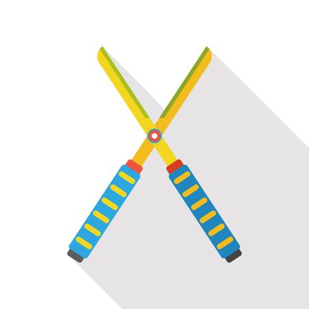 shears: Gardening shears flat icon Illustration
