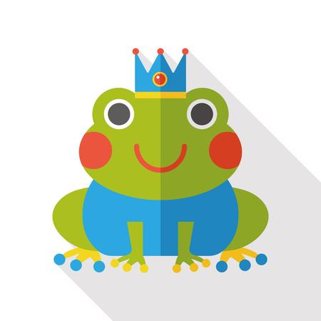 grenouille: conte de f�e grenouille ic�ne plat Illustration