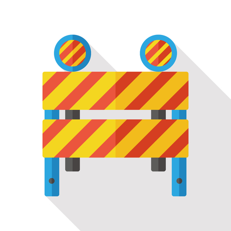 barrier: Roadblocks barrier flat icon