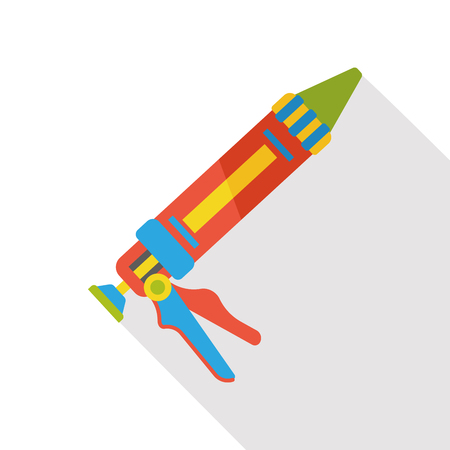 silicone gun: Glue gun flat icon Illustration