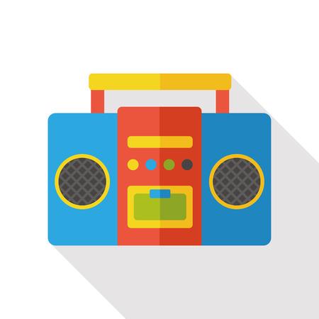 equipo de sonido: la electrónica estéreo icono plana