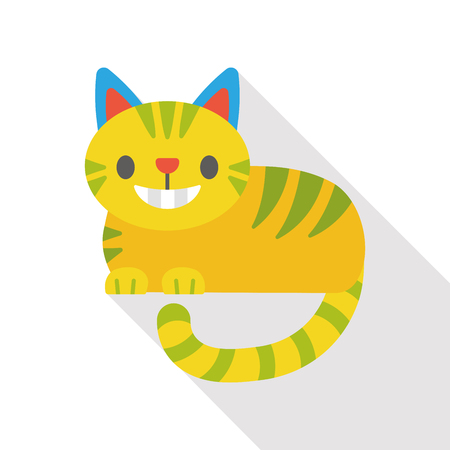 cheshire cat: fairy tale cat flat icon