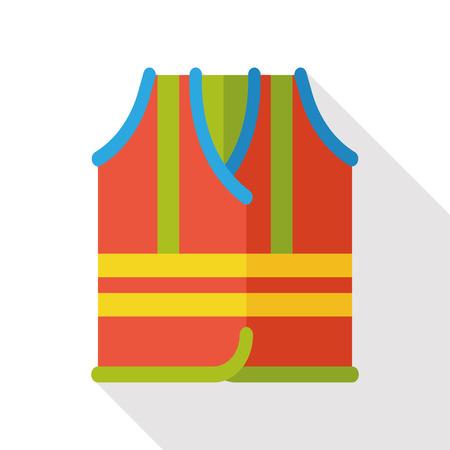 safety vest: safety vest flat icon