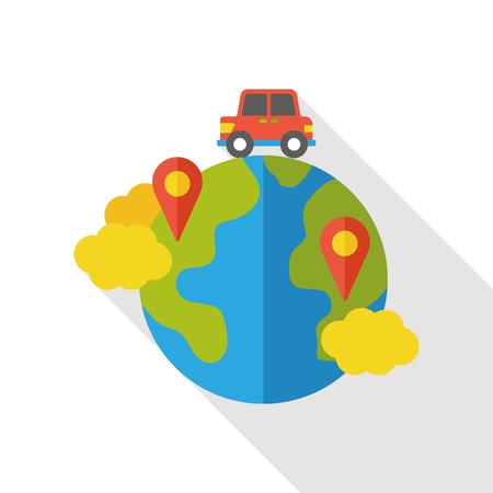 internet world location flat icon