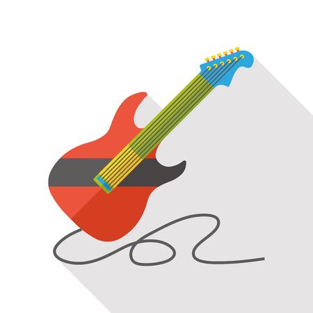 Gitarrenmusik Instrument flach Symbol