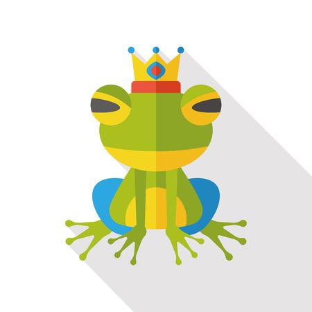 fairy: fairy tale frog flat icon