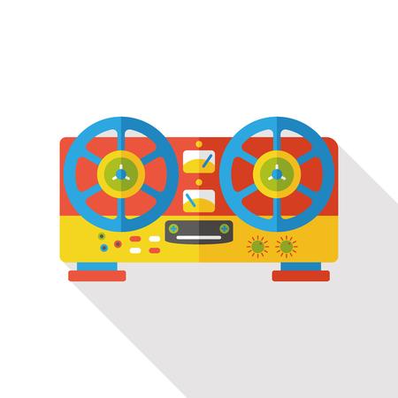 acoustics: DJ disk acoustics flat icon