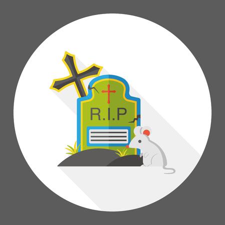 grave stone: grave flat icon