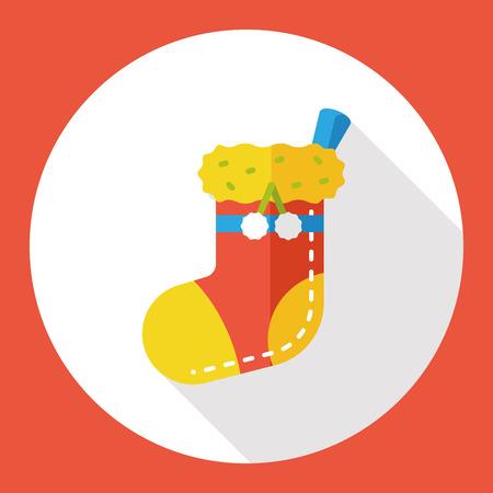 christmas socks: Christmas socks flat icon