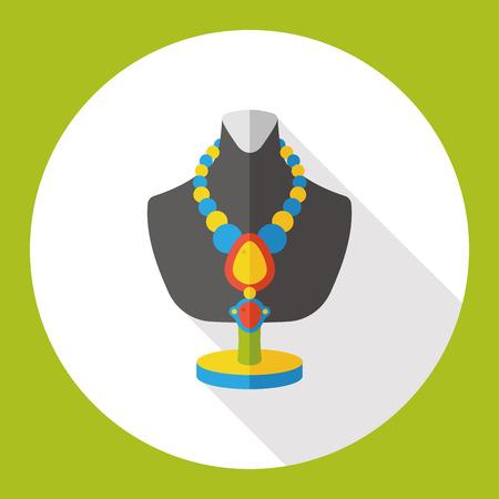 bijouterie: necklace flat icon