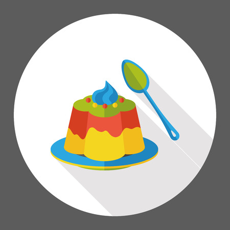 pudding: pudding jelly flat icon Illustration