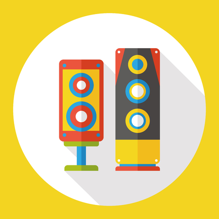 equipo de sonido: icono plana est�reo