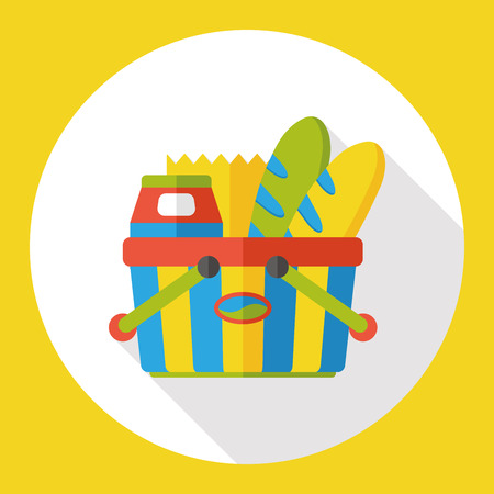 shopping basket: shopping basket flat icon