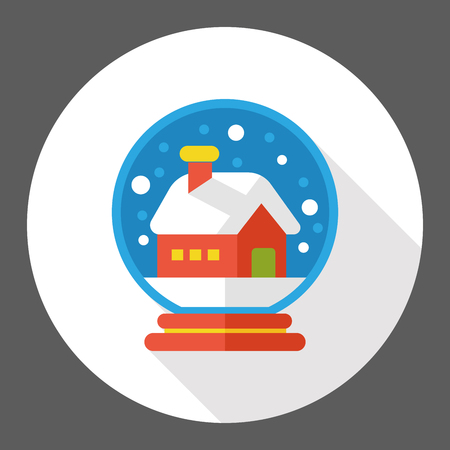 crystal gazing: winter crystal ball flat icon