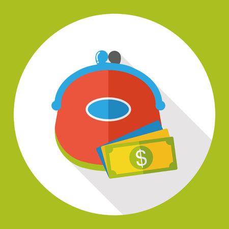 paying bills: shopping wallet flat icon