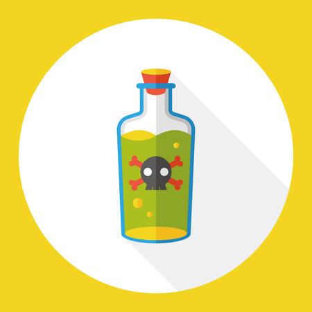poison: poison flat icon Illustration