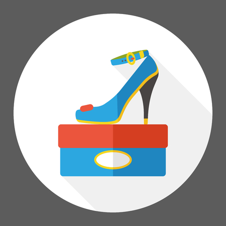 heel: high heel flat icon