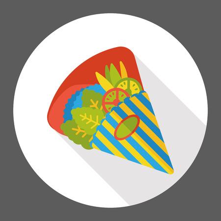 breton: Creperie flat icon