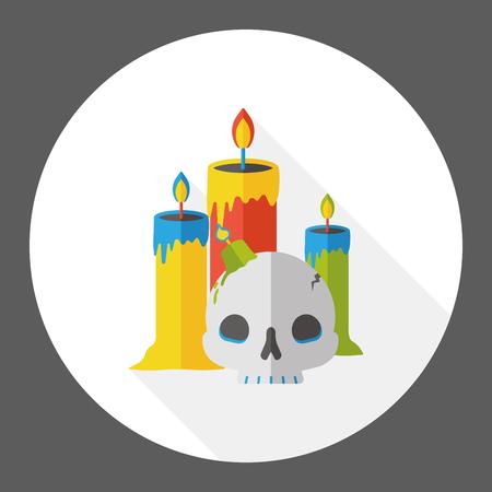 candlestick: Halloween candlestick flat icon
