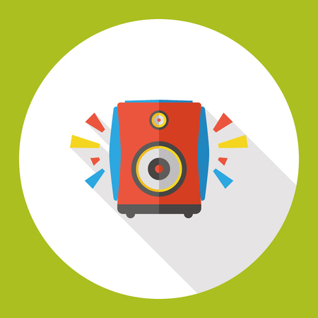 bullhorn: Bullhorn flat icon Illustration