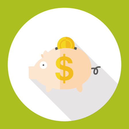 saving accounts: piggybank flat icon