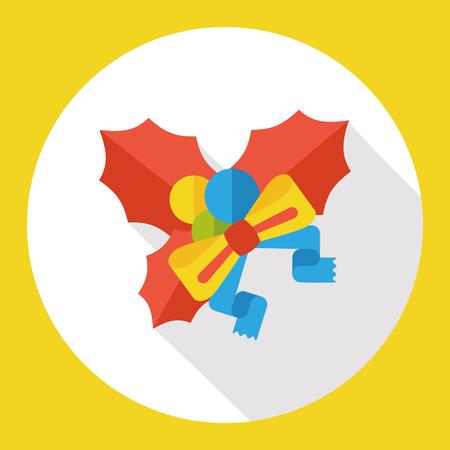poinsettia: poinsettia flat icon Illustration