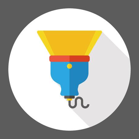 electric torch: flashlight flat icon