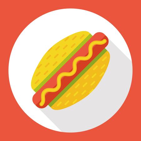 hot dog: hot dog sausage flat icon